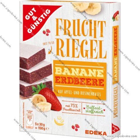 G+G Tyčinky se 73% ovocné náplně, jahoda - banán 150g