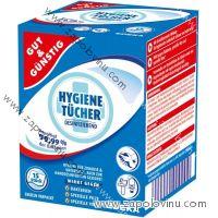 G+G Antibakteriální vlhčené ubrousky v sáčcích 15 ks
