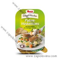 BUSS Krůtí medailonky ve smetanové omáčce s brambory a zelenino 300 g