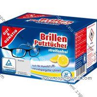 G+G Vlhčené čistící ubrousky na brýle 54 ks