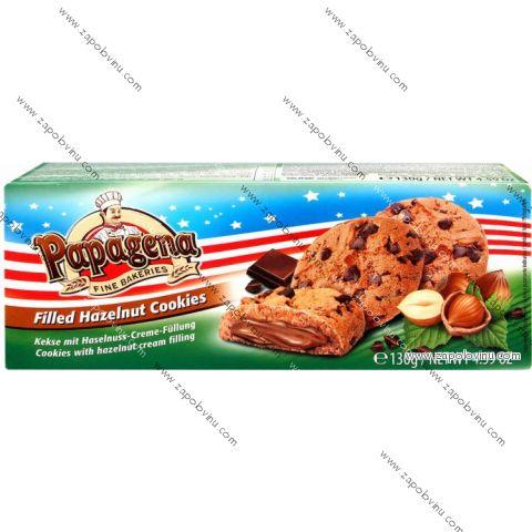 Papagena Premium Cookies s lískooříškovou náplní 130 g