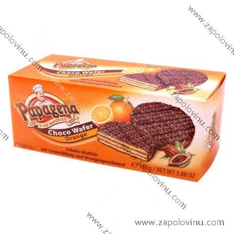 Papagena Čokoládové oplatky s pomerančovou náplní 110g
