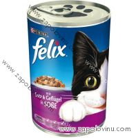 FELIX Kachna a drůbeží v omáčce 400 g