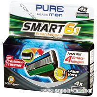 Pure Men Smart 6.1 Premium náhradní břity 4 ks