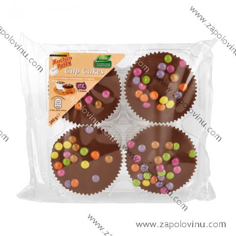 Kuchen Party Muffiny s čokoládovou polevou a barevnou čočkou 240 g