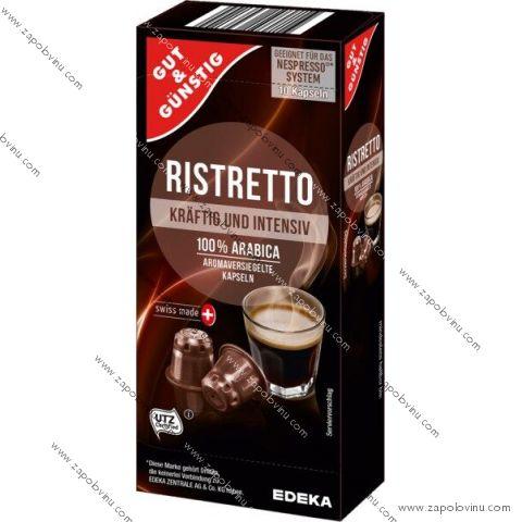 G+G Ristretto pro Nespresso 10 kapslí