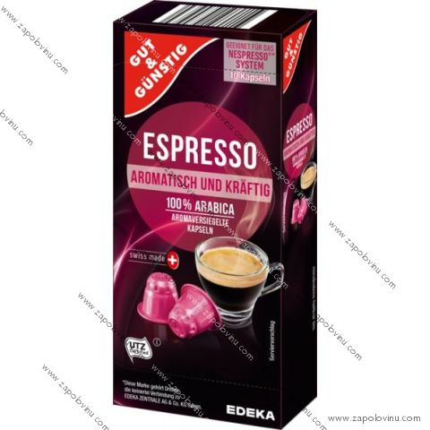 G+G Espresso pro Nespresso 10 kapslí