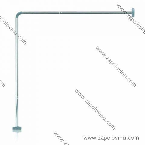Kela Cant Rohová tyč pro koupelnový závěs hliník chromovaná 90x90 cm