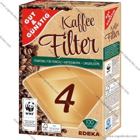G+G Filtry do kávovarů velikost 4, 100ks