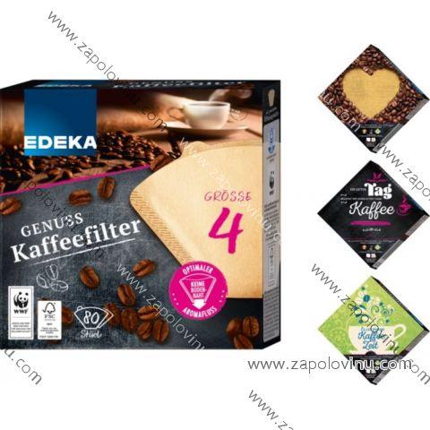 EDEKA Filtry do kávovarů velikost 4, 80ks