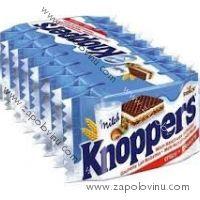 STORCK Knoppers Oplatky s mléčným a lískooříškovým krémem, 8 kusů, 200 g