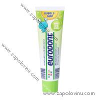 EURODENT Dětský zubní krém, příchuť žvýkačky pro děti ve věku 3-6 let 100 ml
