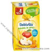 Bebivita banán s jablkem po 4 měsíci 4x90g