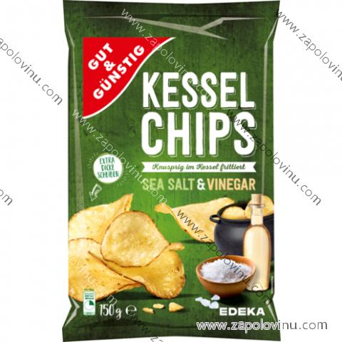 G+G Kotlíkové chipsy Mořská sůl + Ocet 150g