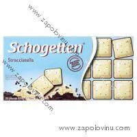 Schogetten Stracciatella bílá čokoláda s kousky tmavé čokolády 100 g