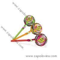 Pin Pop Sour lízátko s kyselou ovocnou příchutí a žvýkačkou 17g