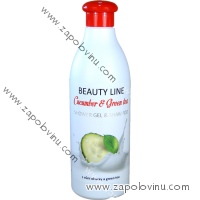 BEAUTY LINE SPRCHOVÝ GEL A ŠAMPON CUCUMBER + GREEN TEA 500 ML