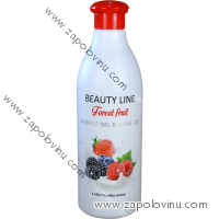 BEAUTY LINE SPRCHOVÝ GEL A ŠAMPON FOREST FRUIT 500 ML