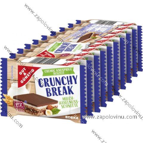 G+G Crunchy Break - Sušenky Mléko a lískové oříšky 10 x 25 g