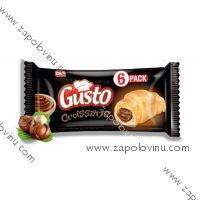 GUSTO Croissant multipack s náplní čokolády a lískových oříšků, 6ks
