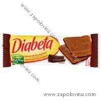 Diabeta Sušenky kakaové polomáčené 90 g