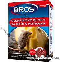 BROS parafínové bloky na myši a potkany 100g