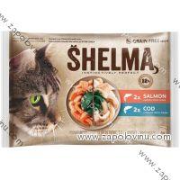 Shelma kočka losos a treska 4 ks 85 g