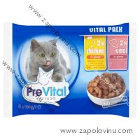 PreVital Cat kuře telecí 4 x 100 g