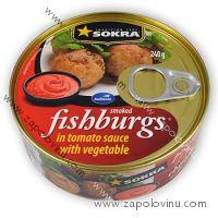 Sokra Pečenáče z uzených ryb v rajčatové omáčce se zeleninou 240g