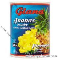 Giana ananas kousky, 580ml
