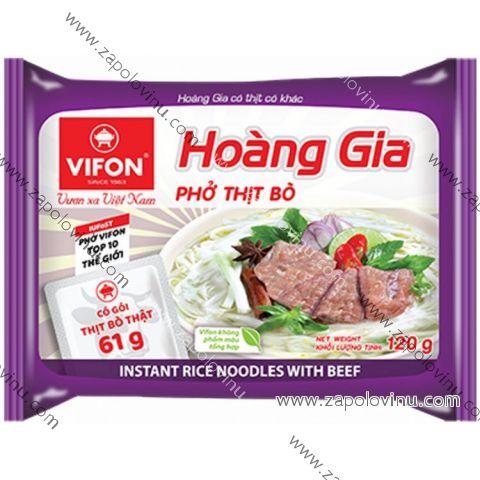 Vifon Hoang Gia instantní rýžová nudlová polévka hovězí PHO BO 120 g