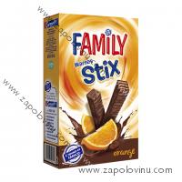 FAMILY STIX oplatky kakaová poleva + kakaovo pomerančová náplň 155g