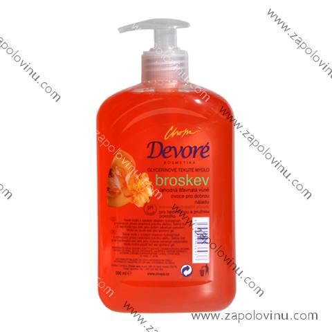 Devoré tekuté mýdlo Broskev dávkovač 500 ml