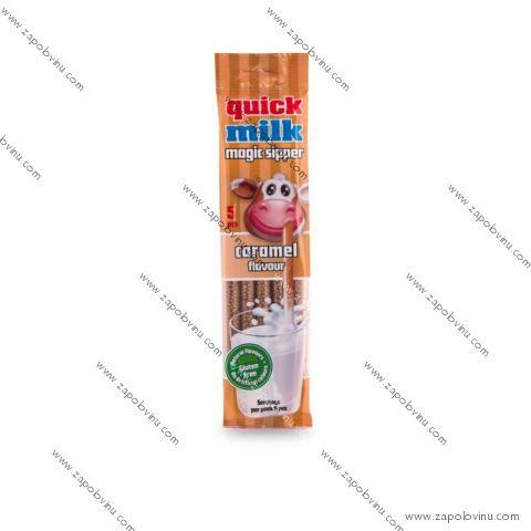Quick Milk Magická brčka do mléka příchuť karamel 30 g