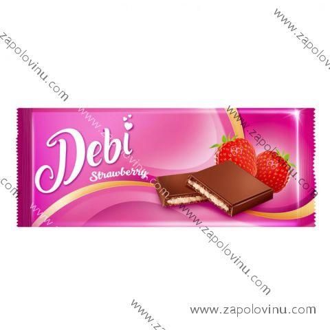Debí mléčná čokoláda s náplní jahodovou 90g