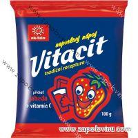 Vitacit neperlivý nápoj v prášku jahoda+vitamín C 100g