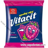 Vitacit neperlivý nápoj v prášku malina+vitamín C 100g