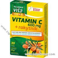 Maxivita Herbal Vitamin C + rakytník 30 kapslí