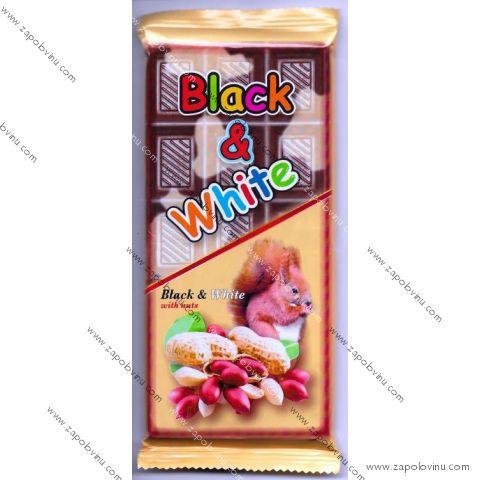 Chocomoco BLACK+WHITE POCHOUTKA S ARAŠÍDY 80g