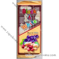 Chocomoco BLACK+WHITE ROZINKY S ARAŠÍDY 80g