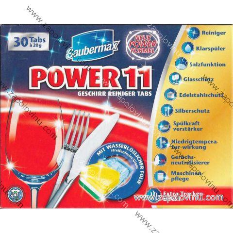 SAUBERMAX POWER 11 TABLETY DO MYČKY 30 KS