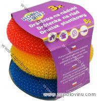 Home Point Plastová drátěnka na nádobí 3ks mix barev (8cm)