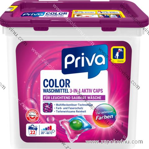 Priva Color 3v1 prací kapsle 22 ks
