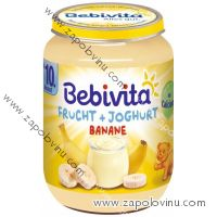 Bebivita Ovoce + jogurt, banán 190g