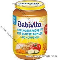 BEBIVITA Dětský příkrm Celozrnné špagety raná zelenina kuře 8M 220g