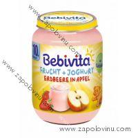 Bebivita Ovoce + jogurt jablka jahody 190g