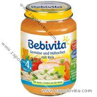 Bebivita Zelenina s kuřetem a rýží 190g