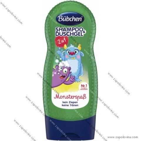 Bübchen Kids šampon a sprchový gel 2v1 Seemonster 230 ml